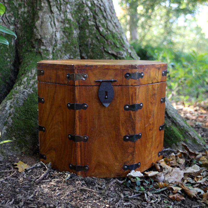 Octagonal Wooden Trunk