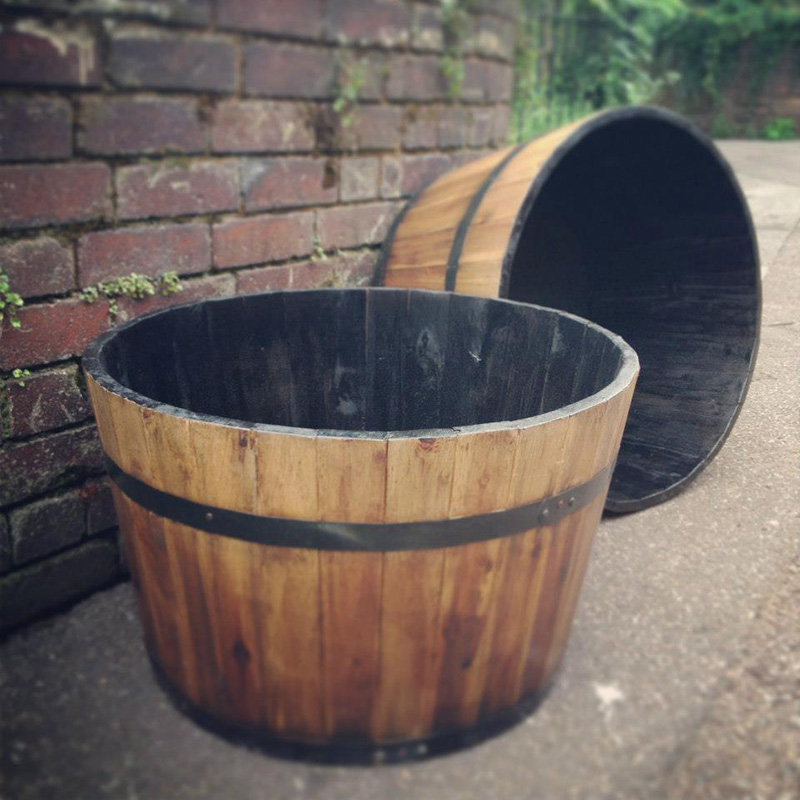 Rustic Half Barrel