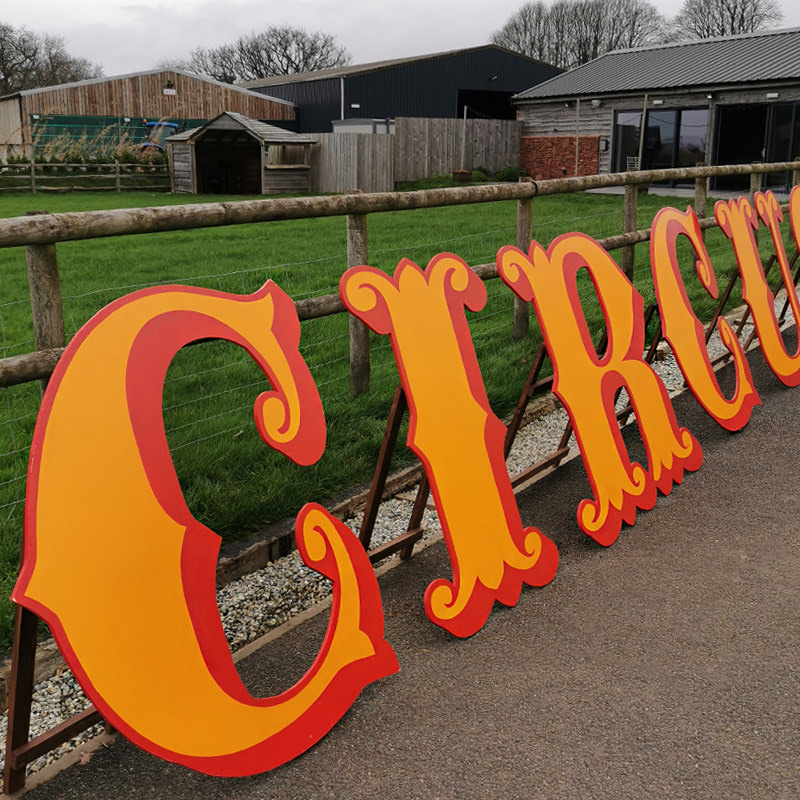 CIRCUS 4ft Freestanding Wooden Letters 3