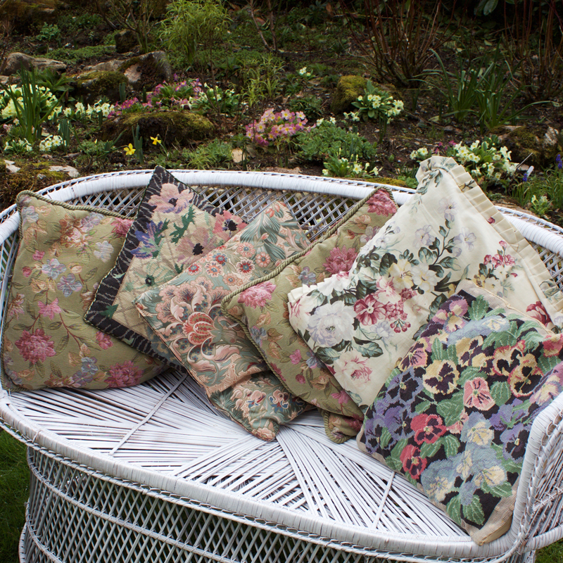 Assorted Cottage Cushions - set of six