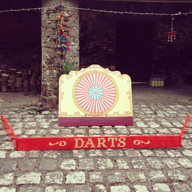 Vintage Well Used Dartboard