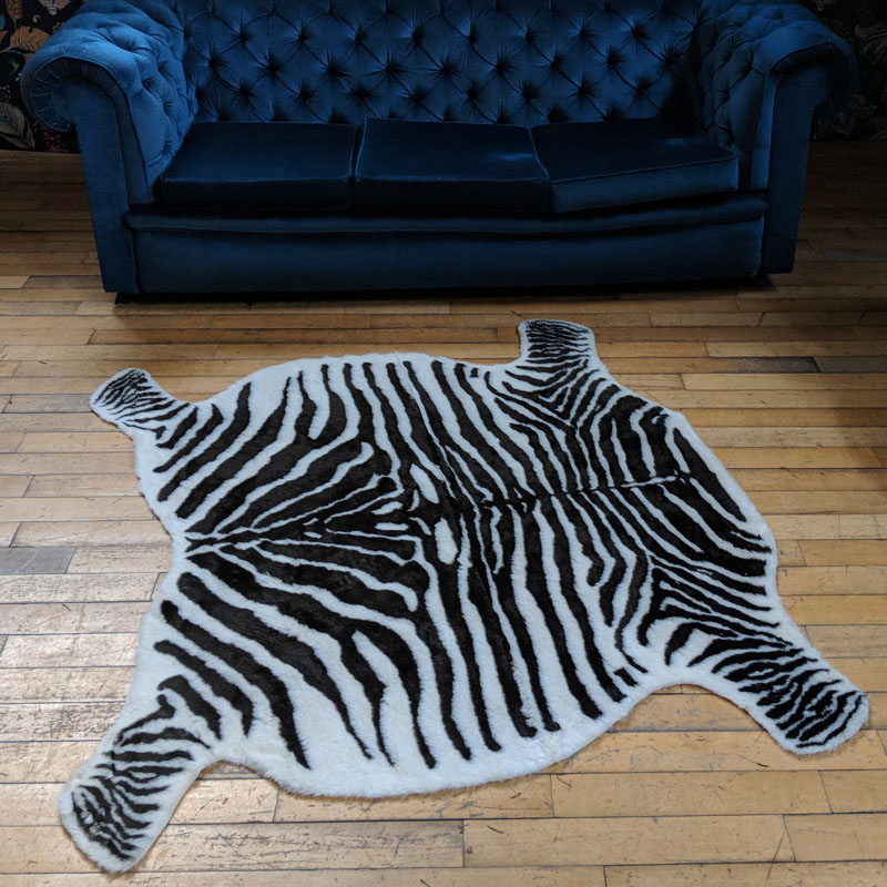Zebra Faux Rug FOR SALE