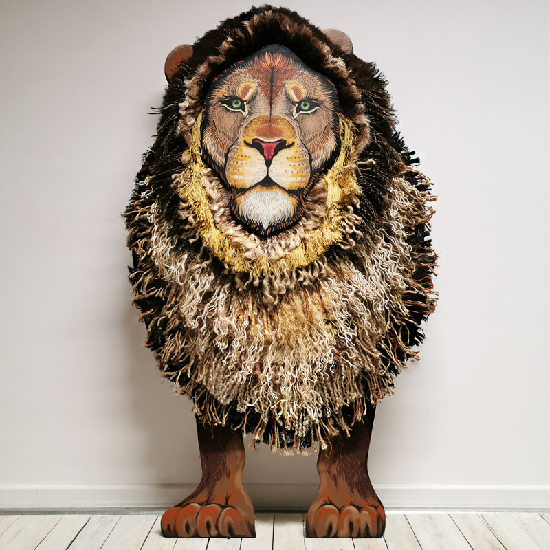 Lucifer Our Freestanding Wooden Lion Cutout  - Named In Memory Of Paignton Zoo's Lucifer The Lion