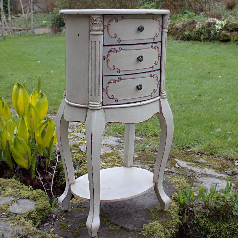 French Style Rococo Round Side Table