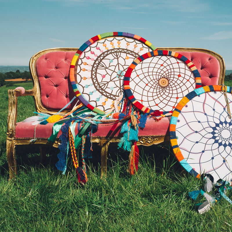 Giant Colourful Dreamcatcher