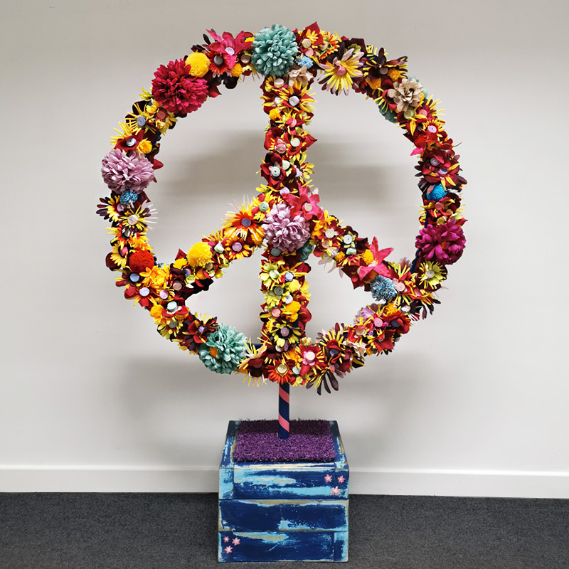 Giant Freestanding Peace Sign
