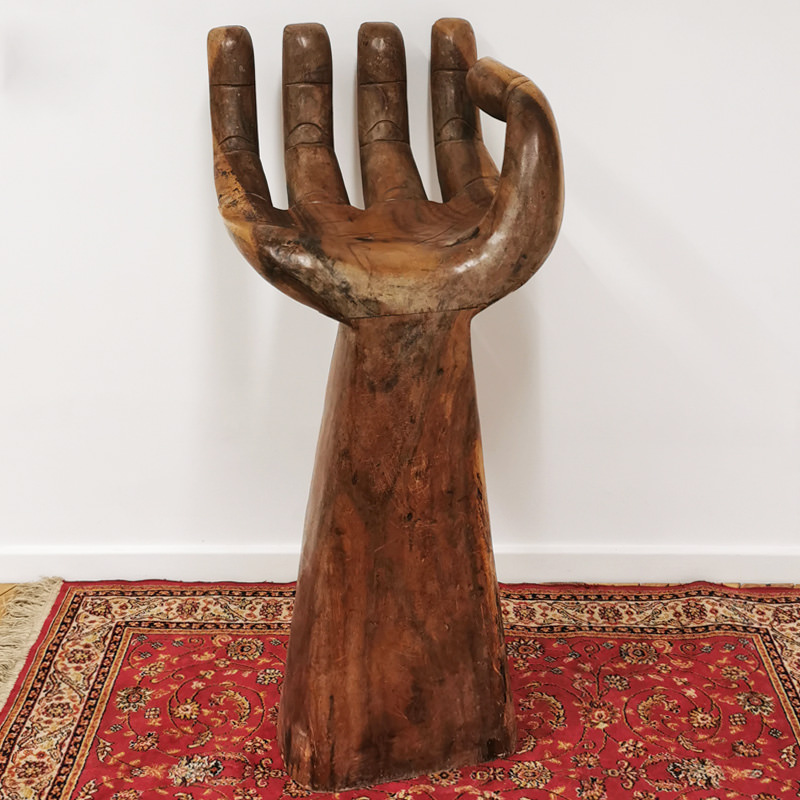 Giant Wooden Hand Stool