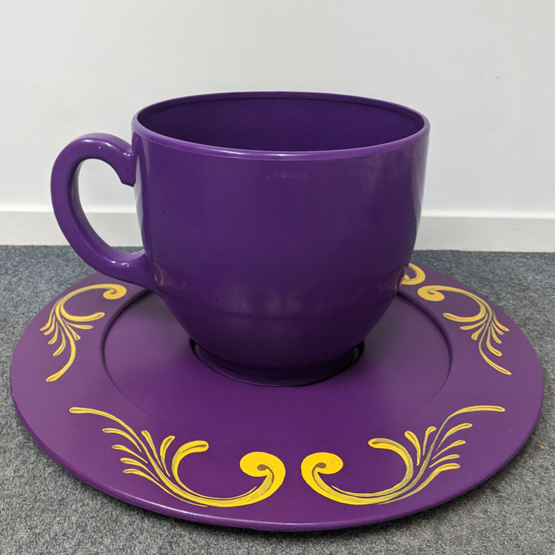 Giant Purple Teacup and Saucer