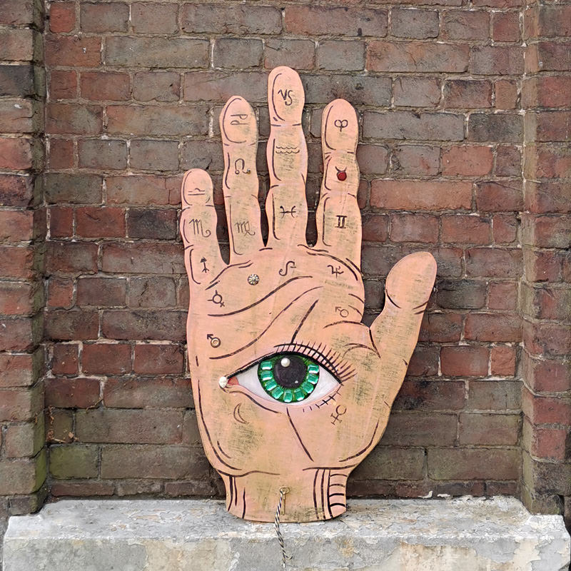 Hand And Eye Giant Sign