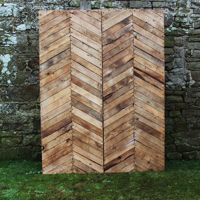 Rustic Wood Herringbone Backdrop