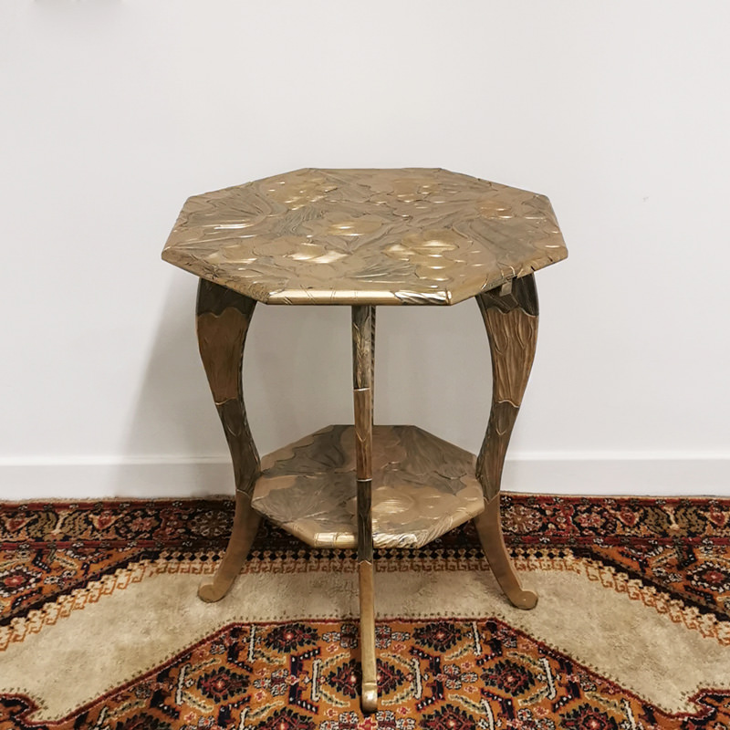 Large Gold Carved Side Table
