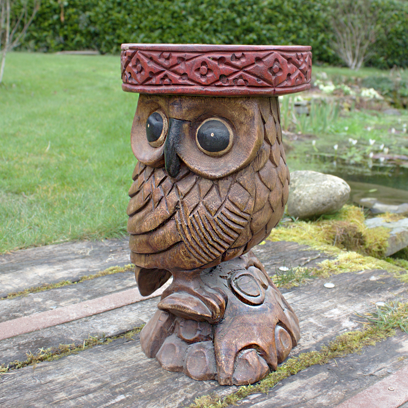 Wooden Owl Stool