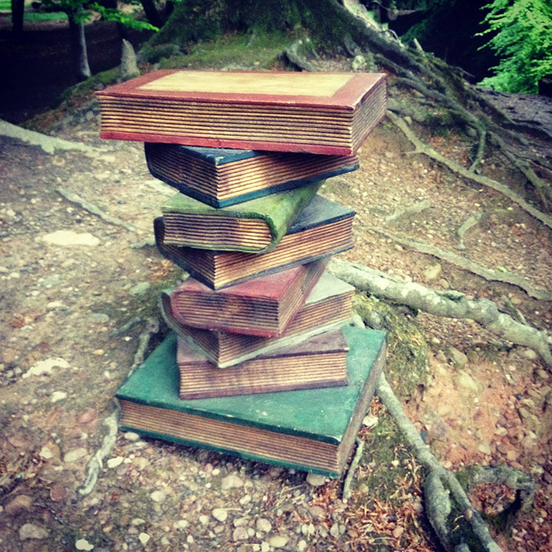 Wooden Book Stack 2