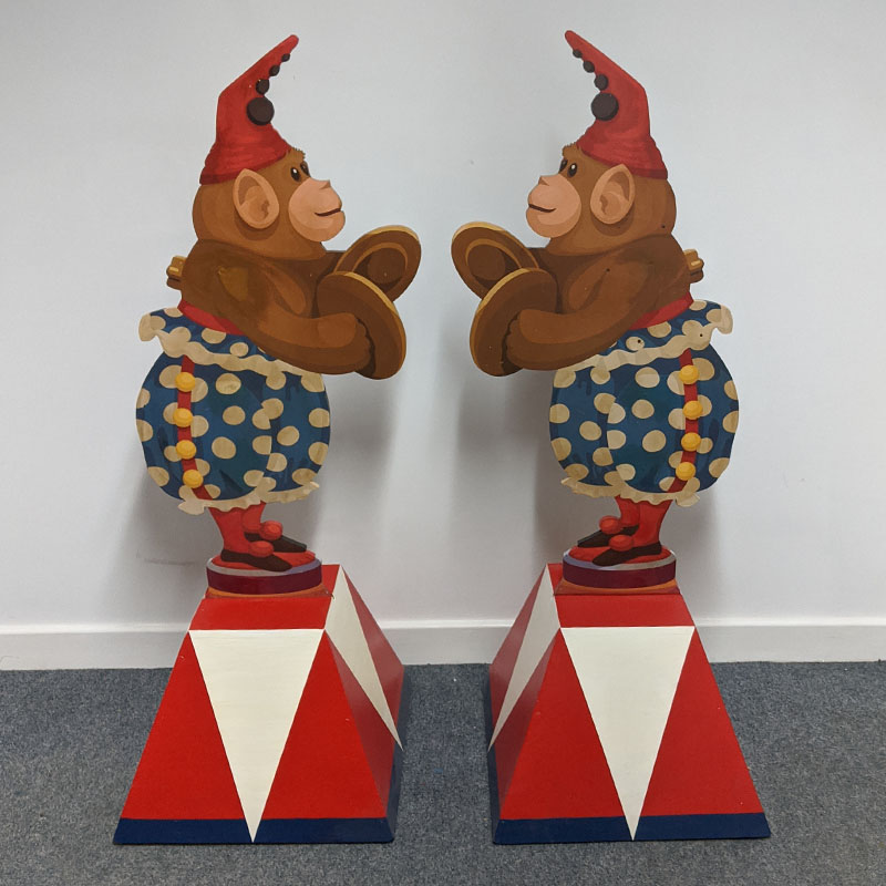 PAIR of Cymbal Monkeys