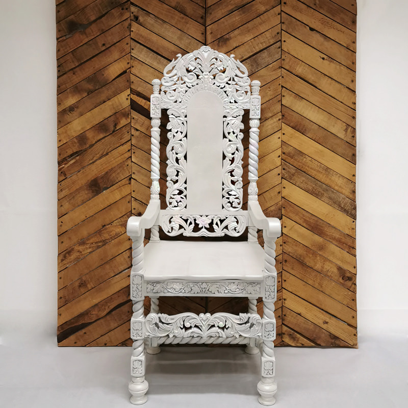 Pearlescent Throne Chair