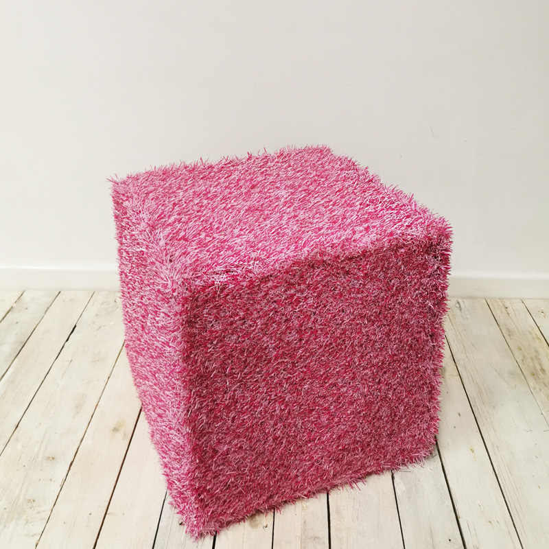 Pink Grass Cube Seat