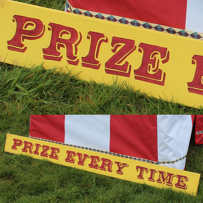 Prize Every Time Funfair Sign