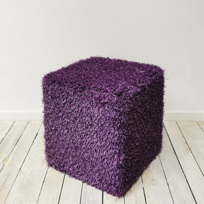 Purple Grass Cube Seat
