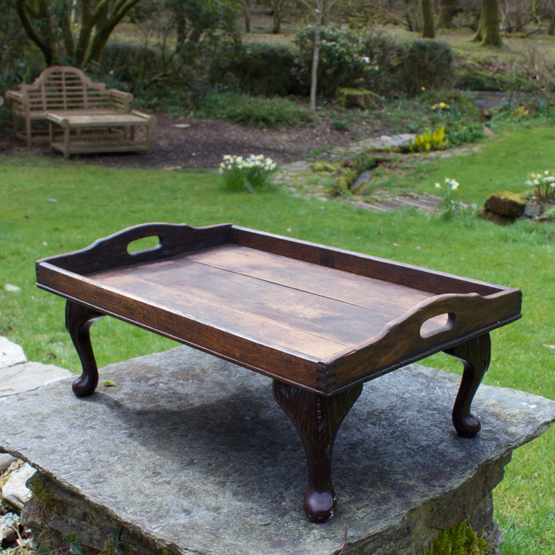 Queen Anne Legged Oak Tray