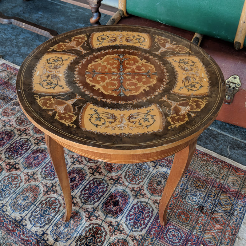 Italian Round Side Table