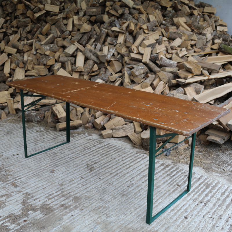 Dark Brown and Green Rustic Woodland Table
