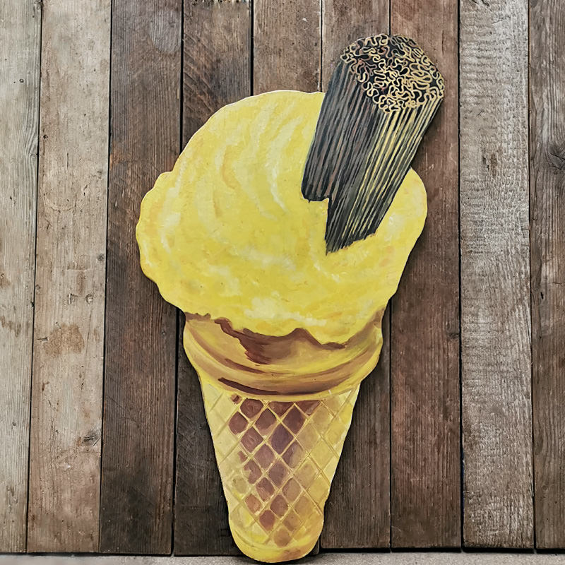 Vintage Hanging Ice Cream Cutout