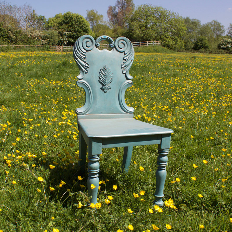Dainty Wooden Blue Chair