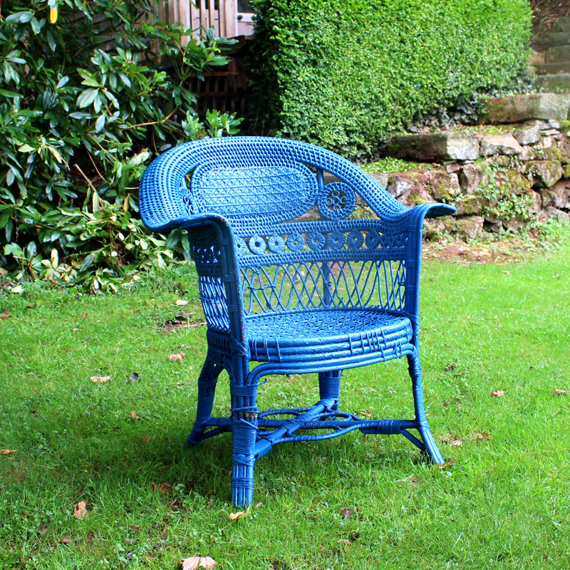 Blue Botanical Chair