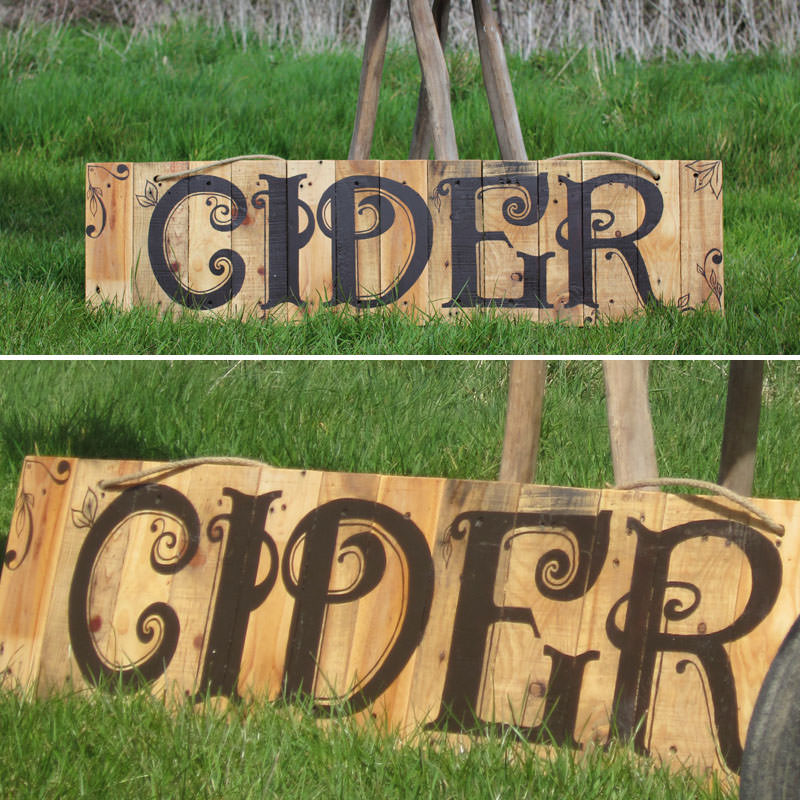 Rustic Cider Sign