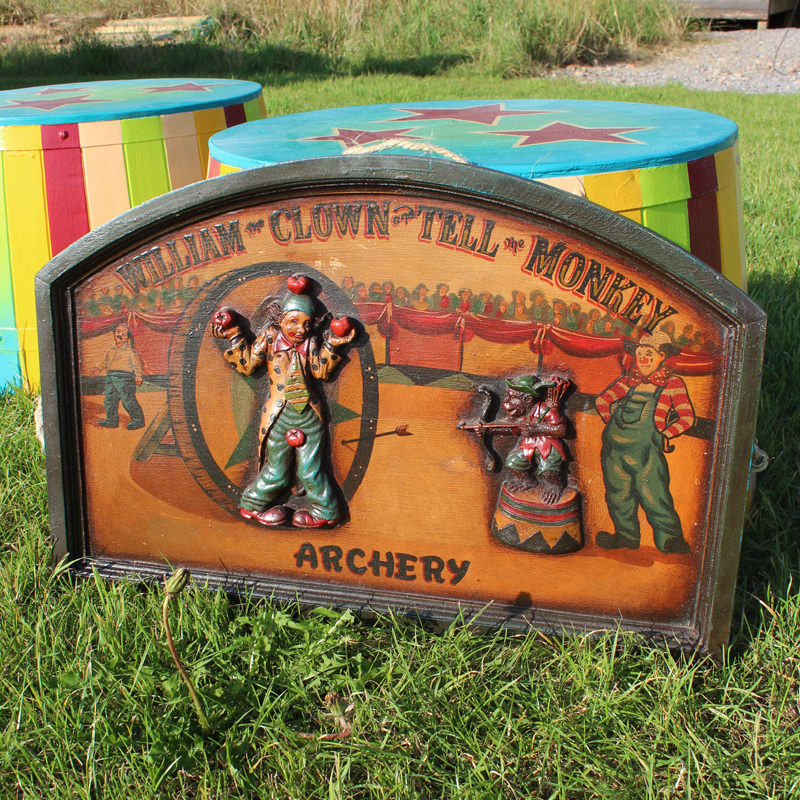 Vintage Archery Circus Sign