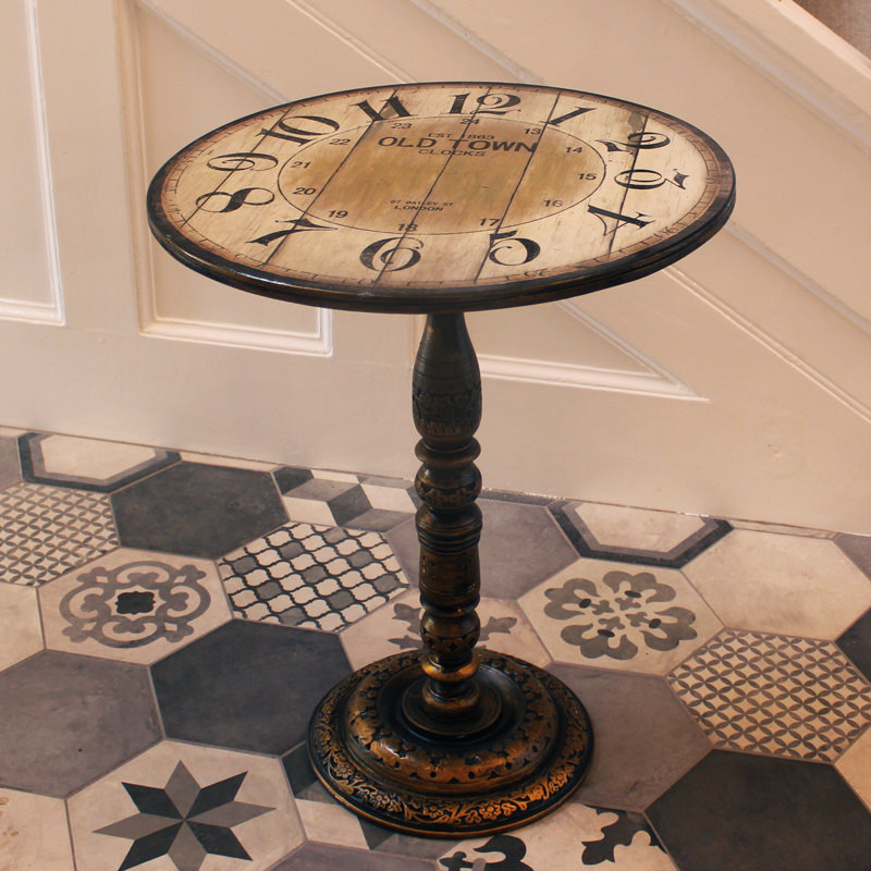 Vintage Clock Table