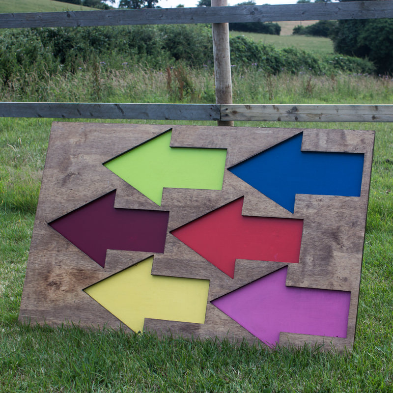 Festival Arrows Sign Freestanding