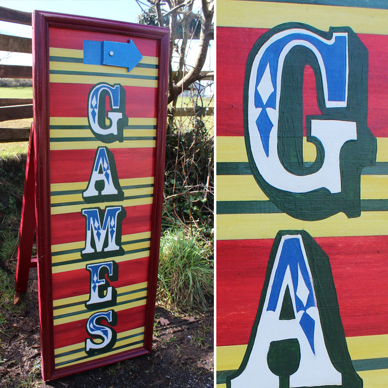 Games Arrow Sign