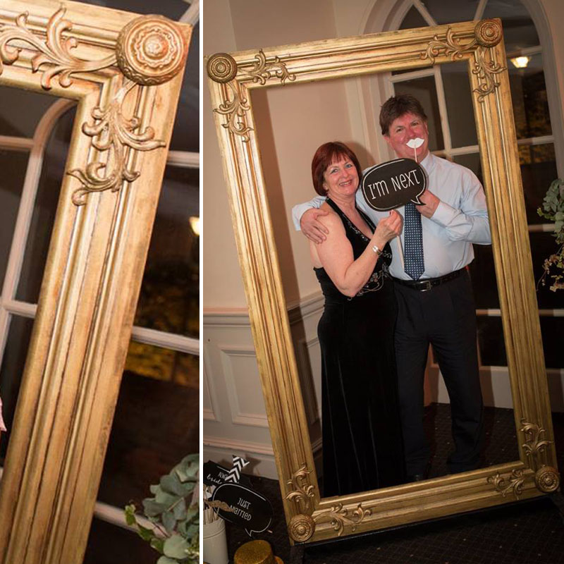 Giant Gold Frame - The Prop Factory - Sustainable prop hire for ...