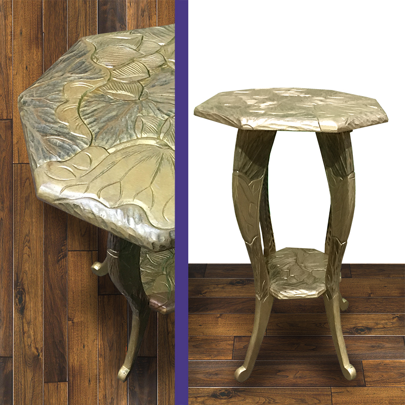 Small Gold Carved Side Table