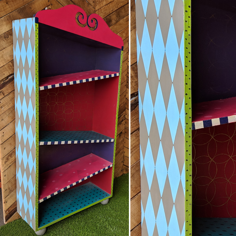 Colourful Wonky Bookcase