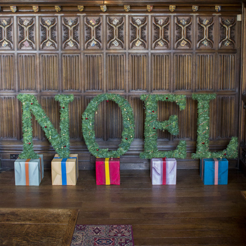 Noel Christmas Tree Letters