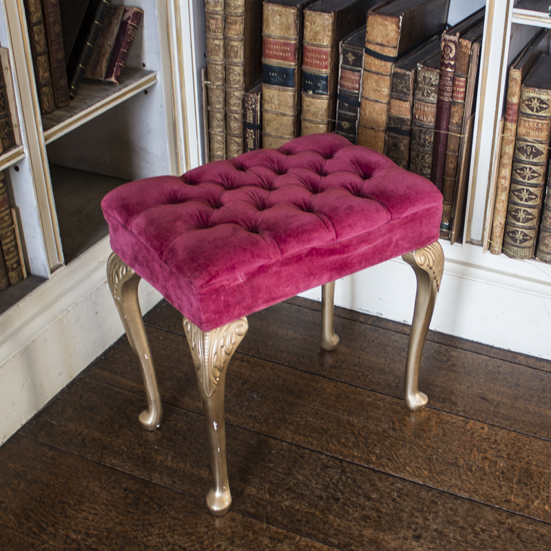 Fuchsia Pink and Gold Emily Stool