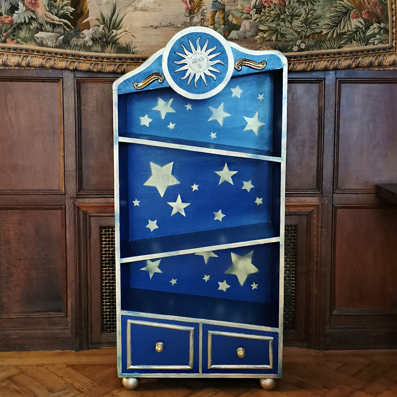Moon and Stars Wonky Cupboard