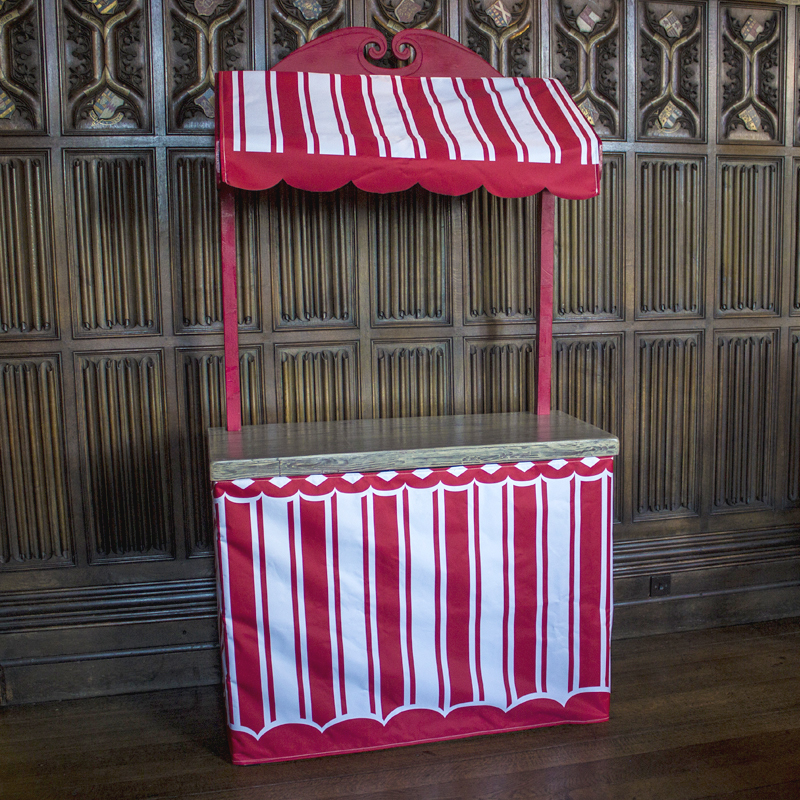 Red and White Confectionery Stand
