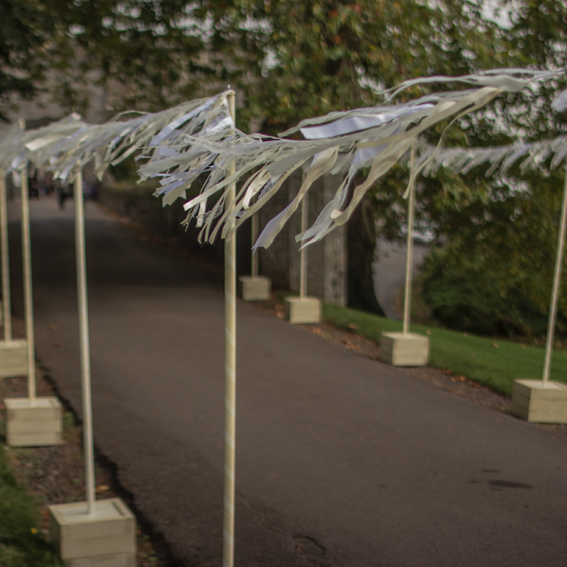 Cream & White Very Shabby Pole for Bunting/Festoon 3