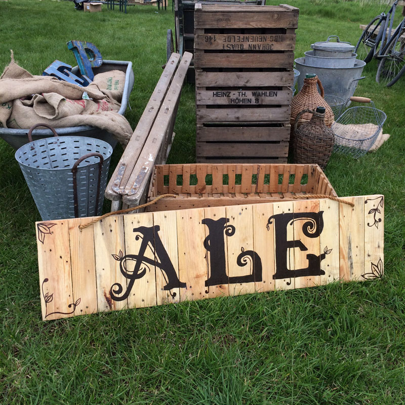Rustic Ale Sign