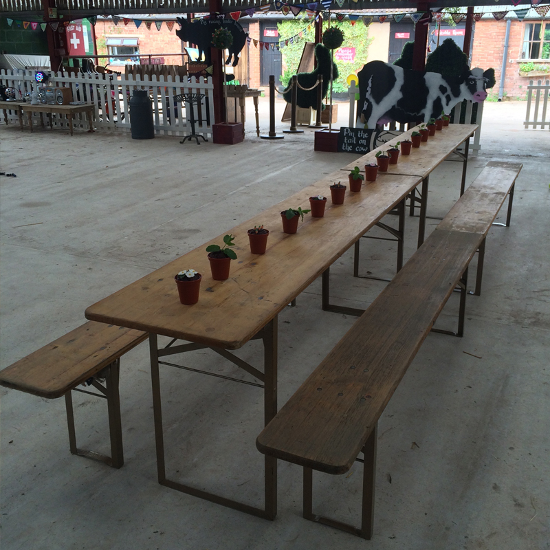 Long Rustic Table