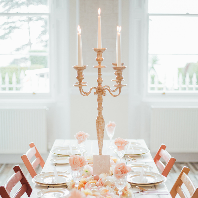 Cream and Gold Candelabra FOR SALE