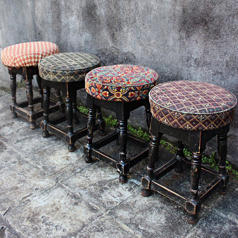 Dining Size Vintage Pub Stool - authentically aged