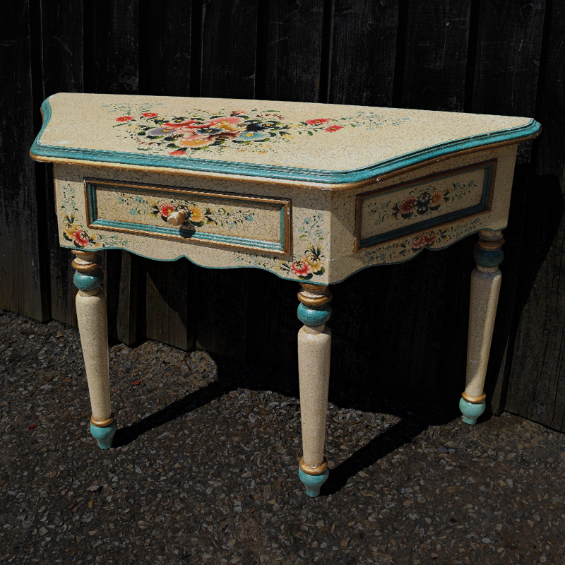 Floral Painted Console Table