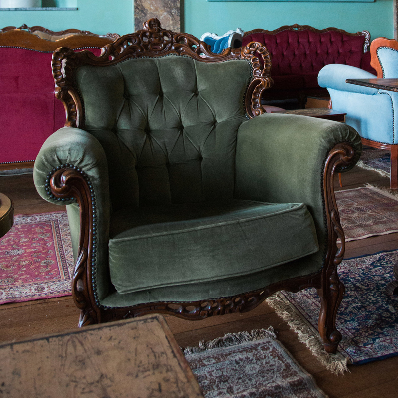 Green Emily Armchair
