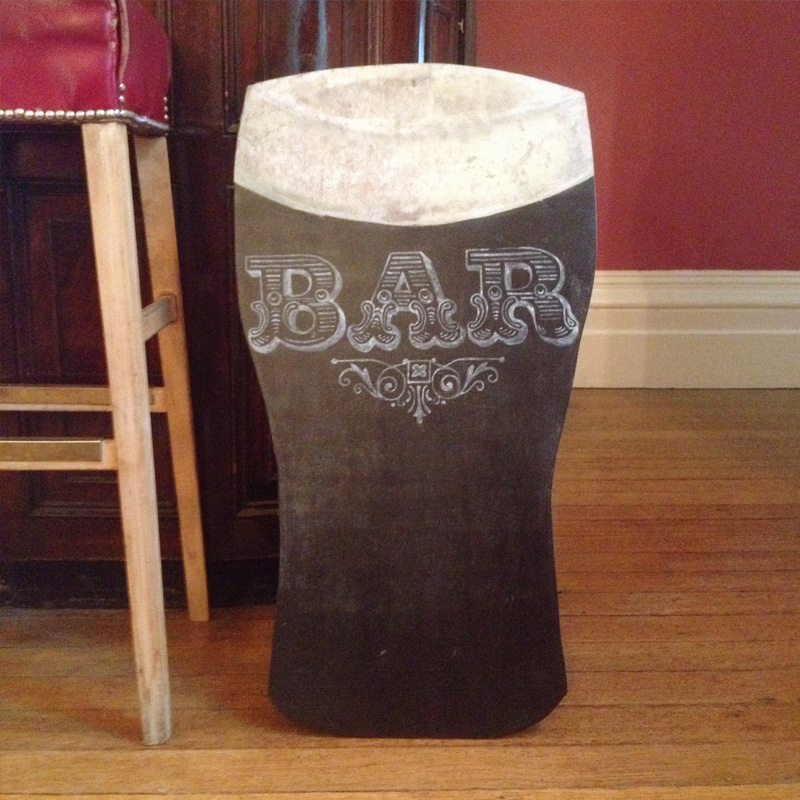 Pint Shaped Chalkboard