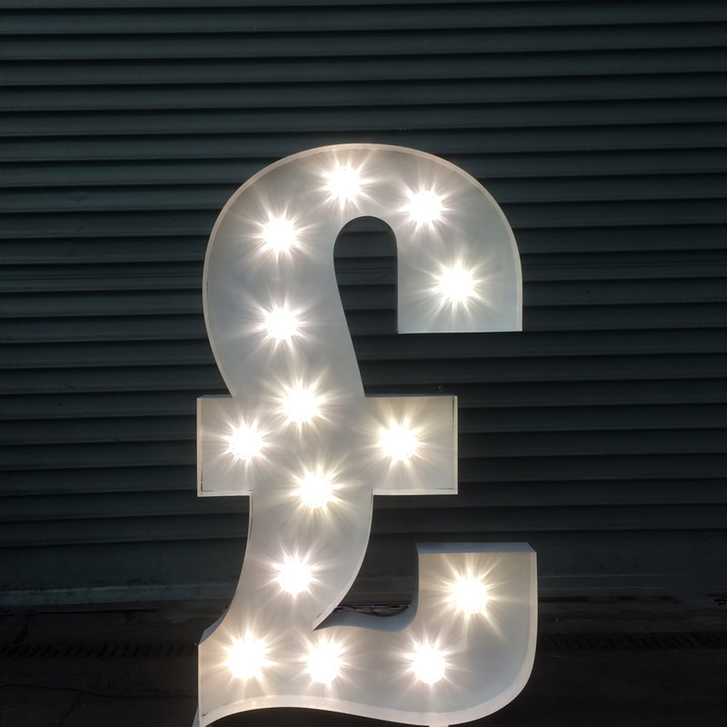 Illuminated £ Pound Symbol 1