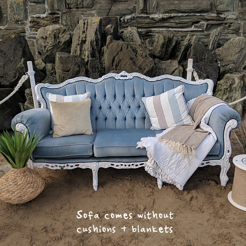 Powder Blue Emily Three Seater Sofa